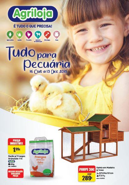 Capado folheto agriloja com produtos de pecuária em promoção no ano de 2018